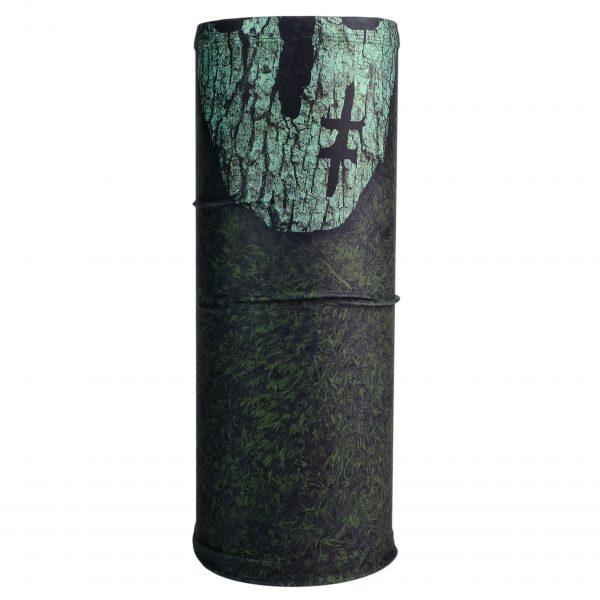 Veido galvos apdangalas / kaklaskarė - Vien Takais (chaki spalva su stilizuota kauke)