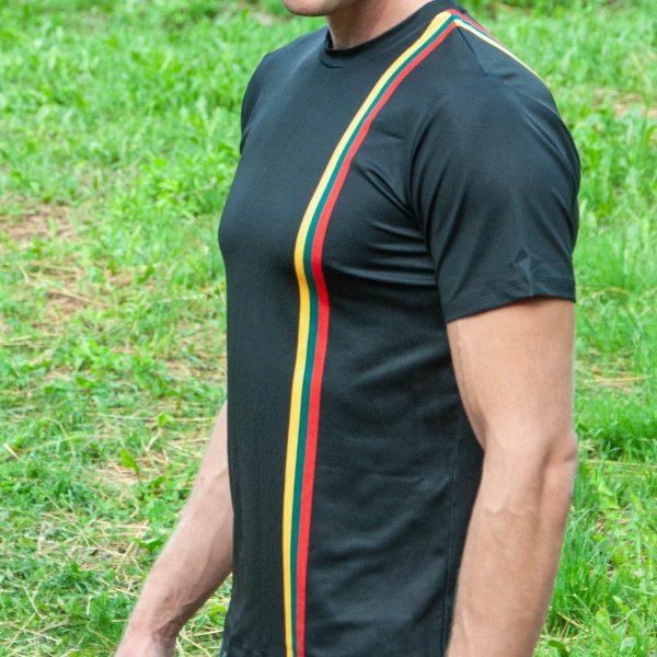 Sportiniai Marškinėliai - Dega Širdyse (juodas) (2)