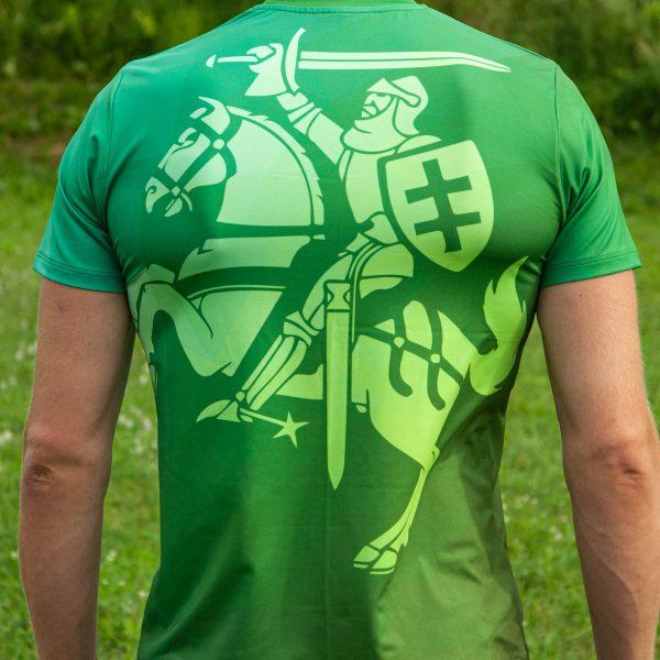 Sportiniai Marškinėliai - Istorinis Vytis (žalias) REVERSAS (2)
