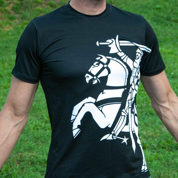 Sportiniai Marškinėliai - Istorinis Vytis (juodas) (2)